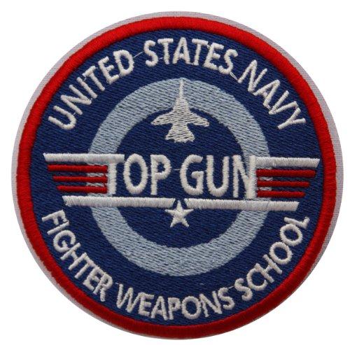 Top Gun Gesticktes Abzeichen (Top Gun Kostüm Patches)
