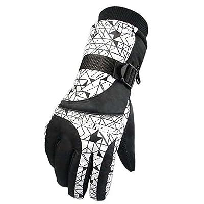 Snowboard Frauenhandschuhe Warm Wasserdichte Ski Handschuhe Radfahren Gear, C