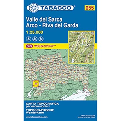 Tabacco Wandern 1 : 25 000 Var Sarca-Riva Del Garda [Lingua Inglese]