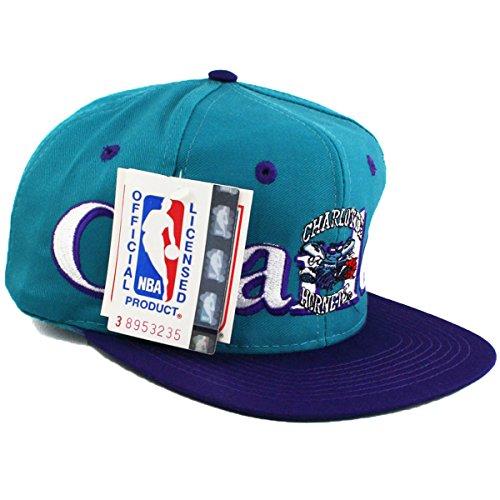 Vintage-Charlotte-Hornets-Logo-7-Snapback-Kappe-Mtze