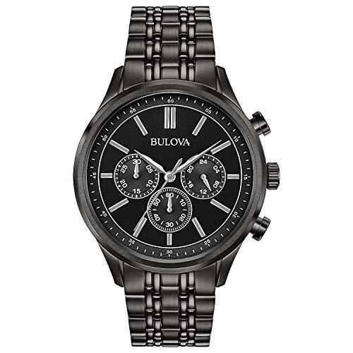 Bulova Herren Chronograph Quarz Uhr mit Edelstahl Armband 98A217