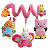 timeracing Multifunction Lovely Kids Baby Sound Toys Bed Hanging Rattle Butterfly Bee Owl Soft Crib Toy