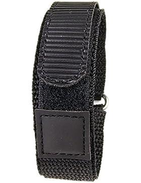 Minott Ersatzband Uhrenarmband Textilband Klettband Schwarz 18mm 19134