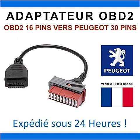 Adaptateur OBD2 pour PEUGEOT 30 broches - Compatible AUTOCOM DIAGBOX