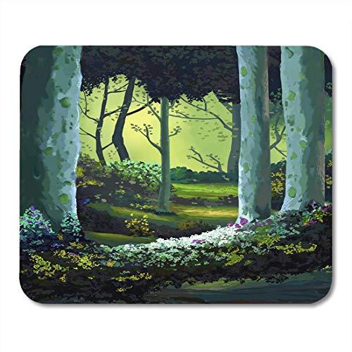 Mauspad, Motiv: Buchgeschichte, der Wald voller Erinnerungen, realistischer Stil, Anime-Cartoon-Mauspad für Notebooks, Desktop-Computer, Mauspad, 25 x 30 cm