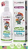 Trumom Natural Herbal Mosquito Insect Bug Repellant Spray Deetfree for Infants Babies Kids