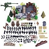 LOSGO 571 Stück Millitärspielzeug Waffe Helm Sandsäcke Kaserne Set für Soldaten Minifiguren SWAT Polizei, Waffensammlung Kompatibel mit Lego