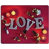 Luxlady ratón para Gaming imagen ID: 33342149letras de madera con palabra Love para San Valentín