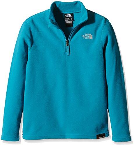 THE NORTH FACE Kinder Glacier 1/4Zip Fleece Jacket-TNF schwarz, Small/Youth XL emailliert blau Glacier 1/4 Zip Fleece
