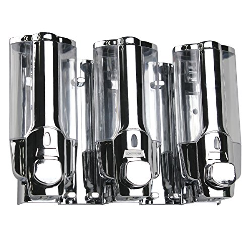 wimi-3-in-1-large-capacity-wall-mounted-chrome-finished-soap-shampoo-conditioner-dispenser-with-vacu
