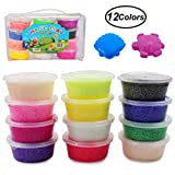 SWZY Fluffy Slime Snow Mud, 12 Colors Fluffy Floam Slime Kit Soft Clay Safe and Non Toxic for Kids