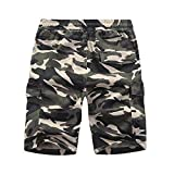 Herren Shorts Kurze Hose Herren Cargo Shorts Bermuda Short Herren Sweatshort Sportshorts Freizeit Laufen Lässige Camouflage