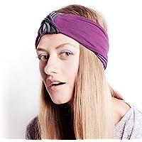 BLOM Multi Estilo diadema para los deportes o Moda, Yoga o para viajar. Happy–Garantía de cabeza super cómodo. Funda Estilo & calidad Charcoal & Lava