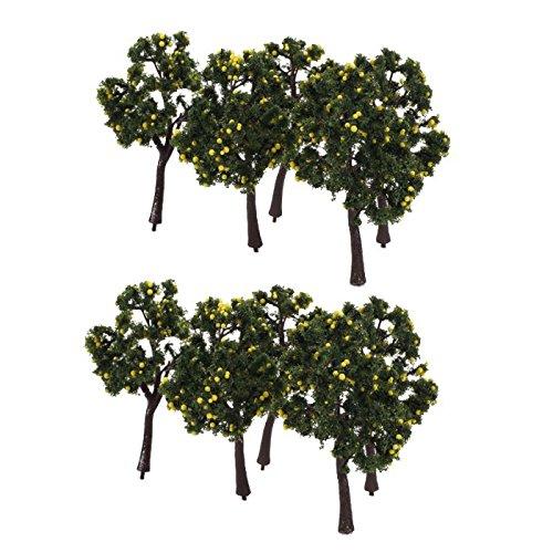 sodialr-10pcs-scenery-landscape-model-decoration-yellow-fruit-trees-12cm