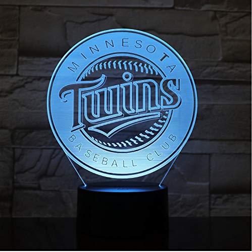 Minnesota Twins Nachtlicht Led Usb Mlb Baseball Team Logo 7 Farbwechsel Touch Sensor Kind Kinder Tischlampe Decor Schlafzimmer