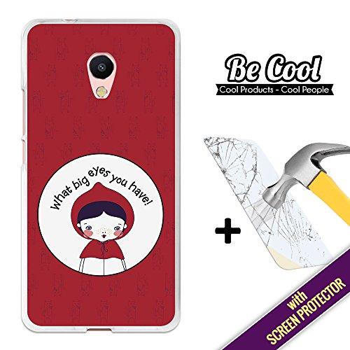 BeCool® - Custodia Cover [ Flessibile in Gel ] per Meizu M5s [ +1 Pellicola Protettiva Vetro ] Ultra Sottile Silicone,protegge e si adatta alla perfezione al tuo Smartphone. Cappuccetto Rosso.