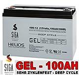 Gel Batterie 100Ah 12V Akku Blei Gel Solarbatterie Wohnmobil Versorgungsbatterie Boot Batterie extrem zyklenfest