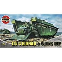 Airfix - Buffalo IV And Willys Jeep, set de modelismo (Hornby A02302)