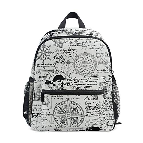 ck Vintage Kompass Nautische Anker Schiff Schultasche Kindergarten Kleinkind Vorschule Rucksack für Jungen Mädchen Kinder ()