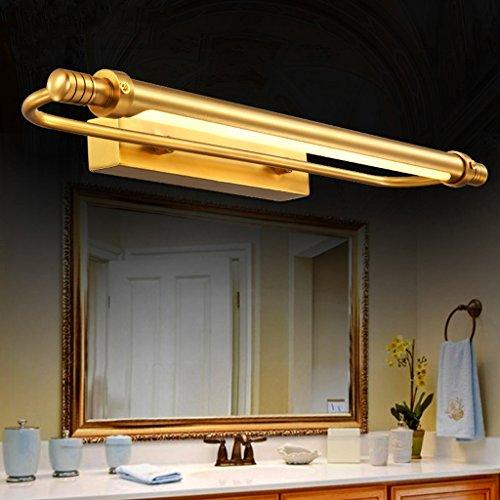 miroir de salle de bain de style européen lampe de mur de la salle de feux avant la main de la lampe américaine pleine de cuivre rouille imperméable à l'eau (petite)