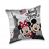Disney Jerry Fabrics 18CS292 Micky und Minnie Maus in New York Kinder-Kissen 40 x 40cm