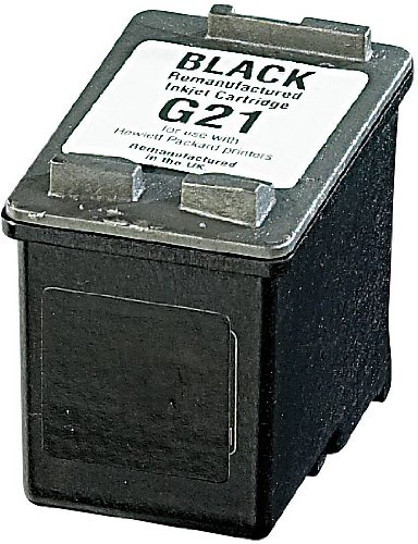 recycled / rebuilt by iColor Patrone remanufactured: Recycled Cartridge für HP (ersetzt C9351AE No.21), black HC 18ml (Druckerpatrone)