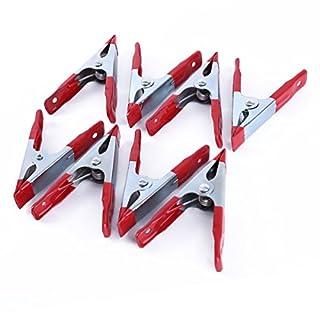 Akord ho-62Starke Kunststoff Spring Zangen/Stall Clips Halterung für großen Plane, silber/rot, 8x 4-Zoll, Set 8Stück