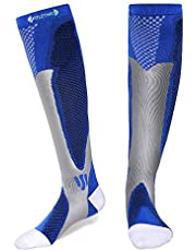 Fitlethic Compression Socks for Men & Women, 20-30 mmHg Graduated Athletic Fit for Running, Nurses, Shin Splints, Flight Travel & Pregnancy - Boost Stamina, Circulation & Recovery (Pair)