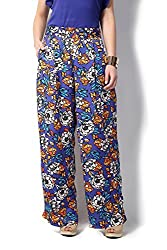 Allen Solly Womens Tapered Pants (AWPN316C00156_Dark Blue with White_30)
