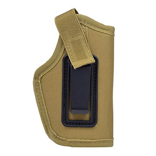 Haiyemao Edelstahlschnalle Tragbare leichte Tasche für Jagdausrüstung Rechts und Links Universal 6,1-Zoll-verdeckte Tragetasche mit Clip Rucksack-Schlüsselanhänger für Bergsteiger (Color : Khaki) -