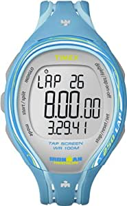 Timex Unisex Quartz Watch with LCD Dial Digital Display and Blue Resin Strap T5K590SU