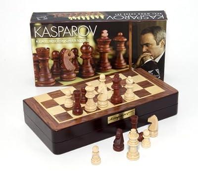 Kasparov - KAS003 - Jeu de Société - Coffret Échecs Kasparov - Bois Marqueterie