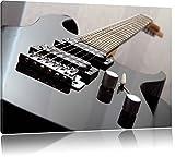 Black Guitar Nahaufnahme Gitarre Format: 100x70 cm auf Leinwand, XXL riesige Bilder fertig gerahmt mit Keilrahmen, Kunstdruck auf Wandbild mit Rahmen, günstiger als Gemälde oder Ölbild, kein Poster oder Plakat