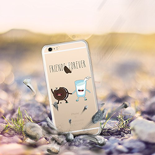 iPhone 6 Plus | 6S Plus Hülle, WoowCase® [ Hybrid ] Handyhülle PC + Silikon für [ iPhone 6 Plus | 6S Plus ] Hund Fußabdruck Handytasche Handy Cover Case Schutzhülle - Transparent Hybrid Hülle iPhone 6 Plus | 6S Plus D0230