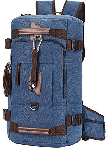 "Canvas Rucksack, Aidonger Vintage Schulrucksack Reise Rucksack 15"" Laptop Rucksack Daypacks (Dunkelblau-58)"