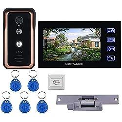 Kits de sistema de diálogo de video con timbre inteligente XYWISH,cámara de timbre con intercomunicador HD Impermeable Seguridad para el hogar Charla bidireccional Visión nocturna para casa familiar
