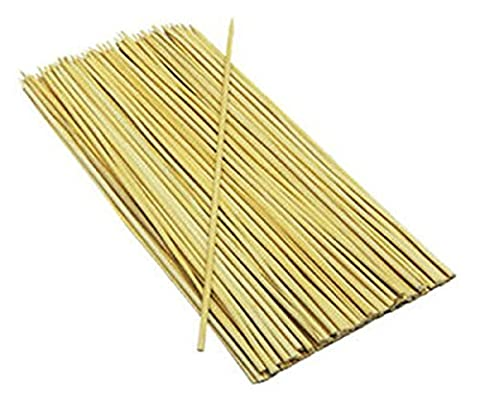 100 Bamboo Skewers For Bbq Kebab Fruit Chocolate Fountain Wooden