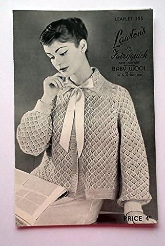 Lawton's Women's Blue Lacy Bed Jacket Knitting Pattern (36 - 42)