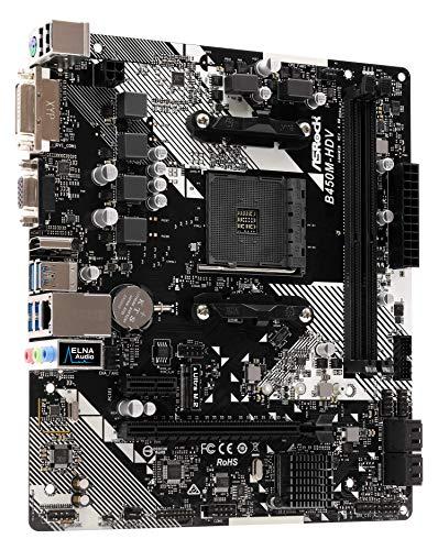 ASRock B450M-HDV R4.0 Micro ATX AM4 Motherboard