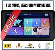 Elebest City 70A+ Navigationsgerät Auto, PKW, LKW, Wohmobil - Großes 7 Zoll Touchscreen HD Display - 24 GB, Fahrspurassisten