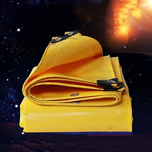 Lona impermeable al aire libre gruesa de la protección del sol Camión grande lona antilluvia de la lona Lona impermeable del PVC Tela impermeable Tela de la tolva Anti-ULTRAVIOLETA ( Color : Yellow , Size : 300cm*300cm )