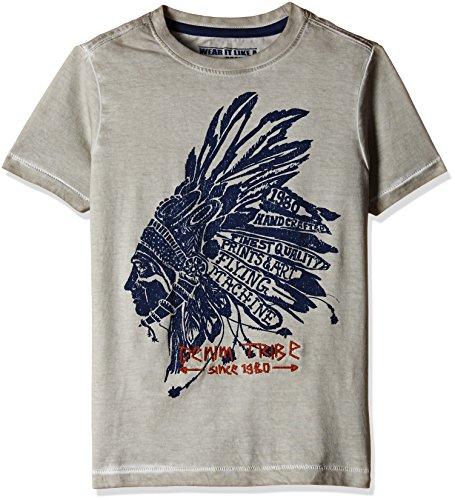 Flying Machine Boys' T-Shirt (FKTS5226_Grey_EES)
