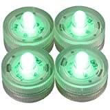 LED-Highlights Deko Kerzen Teelichter 4 er Set grün flackernd wasserdicht kabellos Batterie Stimmungslicht Tischlampe Innen Aussen
