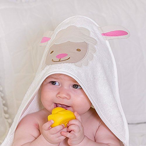 Bio Baby Kapuzentuch% 100GOTS zertifiziert, geeignet für Neugeborene zu 2Jahre alt, Größe 75x 75cm 400gsm Frottee Handtuch,...