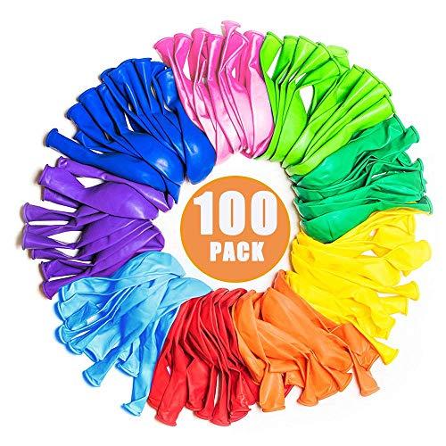 Partei liefert Bevorzugungen für Kinder, Partei-Ballone 12 Zoll-Regenbogen-Satz 100 Satz sortierte farbige Partei-Ballone Massenkarnevals-Preis-Kasten für Kinder Massen für Geburtstags-Hochzeits-Feier