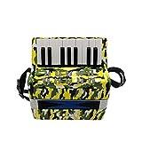 Fisarmonica 17 tasti 8 bassi bambini fisarmonica per pianoforte con cinghie strumenti musicali per principianti studenti mini di piccole dimensioni strumento educativo banda giocattolo regalo per bamb