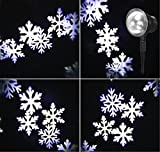 LUCKY CLOVER-A Decorazione di festa LED impermeabile all'aperto di rotazione della fase di Halloween Lampada del fiocco di neve del festa di Natale del laser di Halloween Lampada di movimento della stella del giardi , white