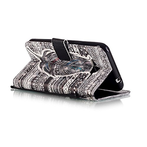 Galaxy J3 (2016) Hülle,Galaxy J3 (2016) Ledertasche Brieftasche im BookStyle,SainCat PU Leder Wallet Case Folio Schutzhülle [Shell Owl Muster] Hülle Lederhülle Bumper Handytasche Skin Schale Soft Back Tribal Feder