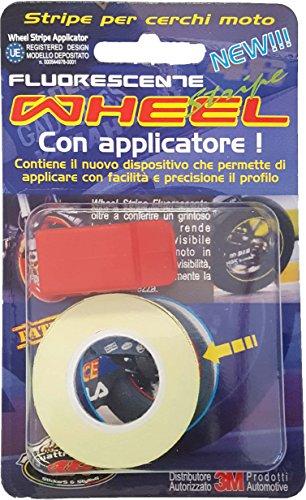 Preisvergleich Produktbild Quattroerre 10240 Wheel Stripes Neon Gelb 5 mm x 6 mt mit Applikator