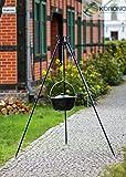 Korono Gulaschkessel emailliert | Gulaschtopf | Feuertopf 14 Liter inklusive Dreibein Gestell - unkonventionellen & traditionellen kochen
